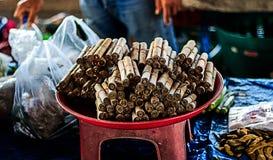 Petit pain sec de feuilles de banane Image stock