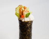 Petit pain Temaki de main d'Unagi (anguille) Image stock