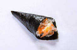 Petit pain Temaki de main de Crabstick Image libre de droits