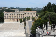 Petit Palais and fortress Saint-Andre at Avignon Royalty Free Stock Photography