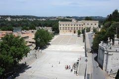 Petit Palais and fortress Saint-Andre at Avignon Royalty Free Stock Image