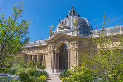Petit Palais or Small Palace. Green backyard in summer sunny day, Paris, France Stock Images