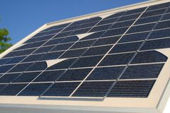 Petit panneau solaire Photographie stock