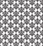 Petit papier peint floral noir et blanc sans couture d'éléments Photos libres de droits