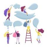 Petit parler de filles Concept plat de vecteur illustration de vecteur