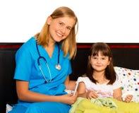 Petit patient heureux Photos libres de droits
