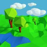 Petit paysage avec le modèle simple Images libres de droits