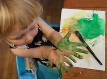 Petit peintre Photographie stock libre de droits