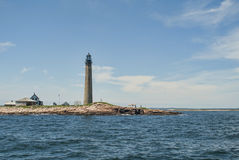 Petit phare de Manan un guide des marins Photographie stock