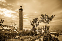 Petit phare de point de sable Photo libre de droits