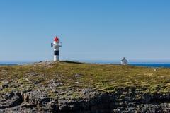 Petit phare en Norvège Images libres de droits