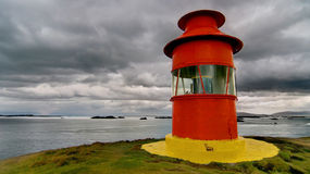 Petit phare rouge Image libre de droits