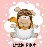 Petit pilote illustration stock
