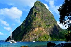 Free Petit Piton Mountain. Stock Images - 110358354