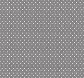 Petit Polkadots blanc, Grey Background, fond sans couture pour des enfants Fond de d?coration de f?te de naissance illustration libre de droits