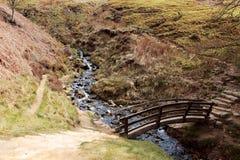 Petit pont au-dessus d'un courant Image stock