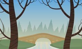 Petit pont en pierre Image libre de droits