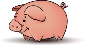 Petit porc drôle image stock