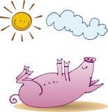 Petit porc heureux illustration de vecteur
