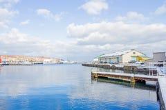 Petit port autour de ville d'Otaru images libres de droits