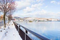 Petit port autour de ville d'Otaru photographie stock