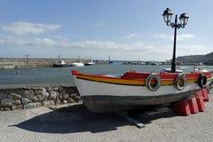 Petit port de castello de Porto sur le santorini Images libres de droits