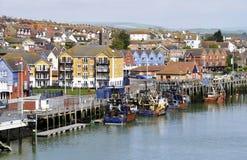 Petit port de pêche britannique photographie stock libre de droits