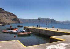 Petit port de pêche grec Image libre de droits