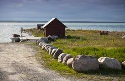 Petit port de village de fishermans Images stock