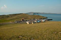 Petit port sur le littoral Images libres de droits