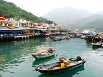 Petit port sur une île en Chine photographie stock