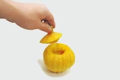 Petit potiron jaune Photographie stock libre de droits