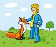 Petit prince et le Fox Image libre de droits