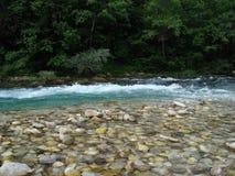 Petit rapid sur le fleuve Photo stock