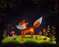 Petit renard rouge Photos stock