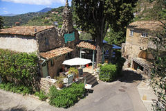 Petit restaurant de Shapelle de La dans le saint Paul de Vence, France Photo stock