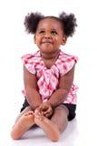 Petit rire mignon de fille d'afro-américain Image stock