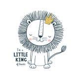 Petit roi Illustration de vecteur pour des enfants Photos stock