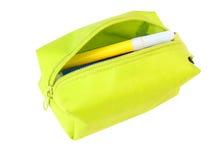 Petit sac avec les repères colorés Photographie stock libre de droits