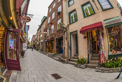 Petit stad van Champlain Quebec stock foto's