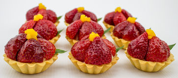 Petit Strawberry Tarts Stock Image