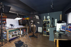 Petit studio photographique commercial Image stock