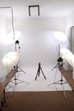 Petit studio vide Photographie stock