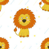 Petit style mignon de bande dessinée de lion Configuration de vecteur Photographie stock