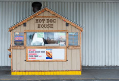 Petit support de hot-dog, affaires de voisinage Photographie stock libre de droits