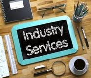 Petit tableau avec des services d'industrie 3d Photo stock