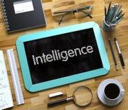 Petit tableau avec l'intelligence 3d rendent Image libre de droits