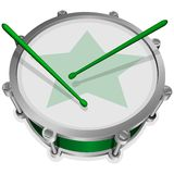 Petit tambour vert Images libres de droits