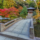 Petit temple à Chion-dans le complexe à Kyoto Photographie stock