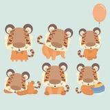 Petit tigre mignon Photos stock